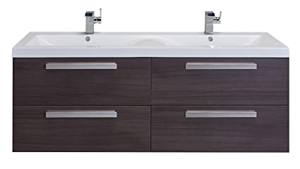 Exceptionnel Eviva EVVN144 57GOK Surf 57 Inch Modern Bathroom Vanity Set With Integrated  White Acrylic Double