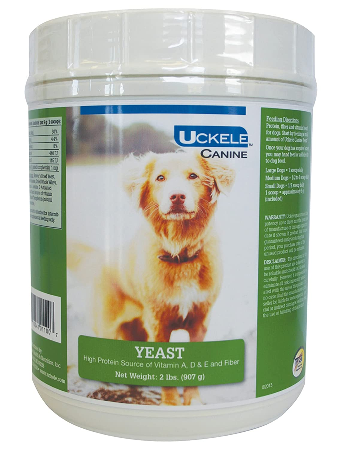 Uckele Canine Yeast 'Brewers' Multivitamin for Pets 2-Pound