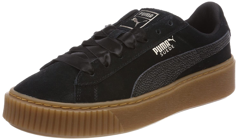 Puma Suede Platform Bubble Wn's, Zapatillas para Mujer 38 EU|Negro (Puma Black)