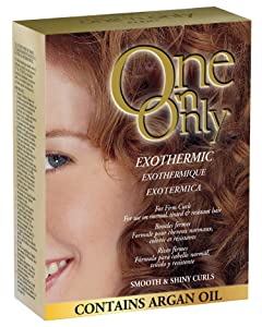 One 'n Only Exothermic Perm with Argan Oil for Firm Curls, Self-Heating Formula for Client Comfort, Ensures Shine and Manageability, Eliminates Perm Odor