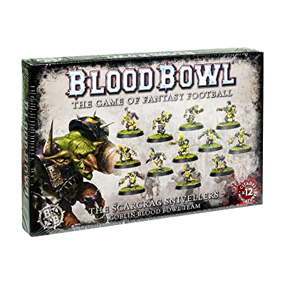 Blood Bowl The Game of Fantasy Football The Scarcrag Snivellers Goblin Team (12 Miniatures): Toys & Games