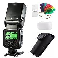 VILTROX GODOX TT600 GN60 2.4G Wireless Speedlite Master/Slave Flash para Canon Nikon Pentax Olympus Fujifilm Panasonic con 20 difusores de Filtro de Color