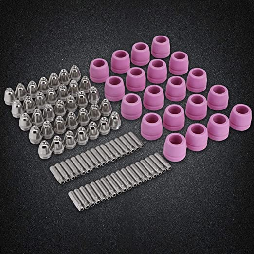 Kit de electrodos de boquilla soplete cortador de plasma Consumibles Boquillas de electrodos consumibles Juego de cubos aptos para antorcha cortadora de plasma AG-60 90 pcs//set