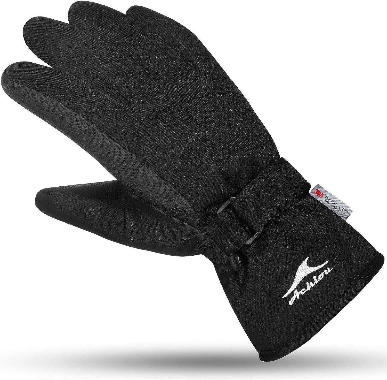 Achiou Ski Snow touchscreen Travel Gloves Winter Warm
