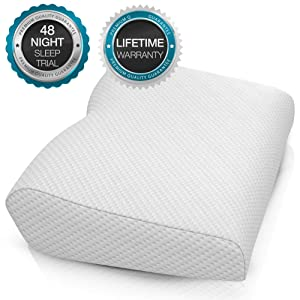 BODESY Contour Memory Foam Bed Pillow for Sleeping, Orthopedic Pillow for Neck and Shoulder Pain – Neck Pillow for Side Sleepers, Back and Stomach Sleepers, Cervical Pillow for Neck Pain