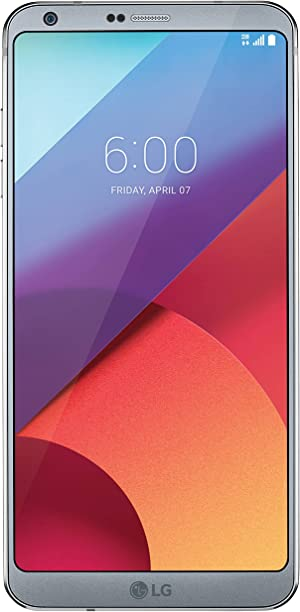 LG G6 H872 5.7in 32GB Unlocked GSM Android Phone w/ Dual 13MP Cameras - Ice Platinum (Renewed)