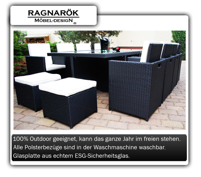 Amazon.de: Ragnarök-Möbeldesign PolyRattan Essgruppe DEUTSCHE MARKE ...