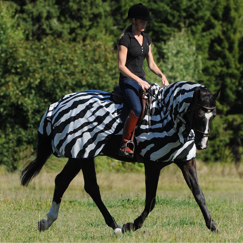 Bucas Buzz Off Zebra Riding Fly Rug Small Zebra