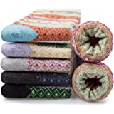 5 Pairs Merino Womens Winter Warm Knit Wool Casual Crew Socks