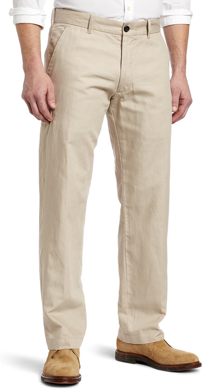 Haggar Mens LK Life Khaki Straight-Fit Flat-Front Pant