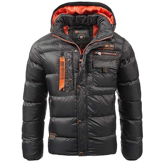 Geographical Norway Herren Steppjacke Winterjacke – Gefütterter Warmer Anorak Outdoor Jacke für den WinterHerbst im Bundle mit UD Beanie