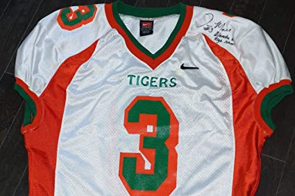 best loved cba0f b3110 TYRONE MOSS Signed Game Used Auto BLANCHE ELY High School ...