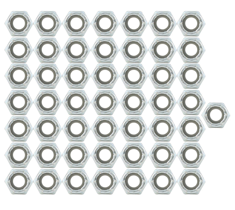 Allstar ALL16012-50 Thread Hex Nut with Nylon Insert Nut 50 Piece Allstar Performance