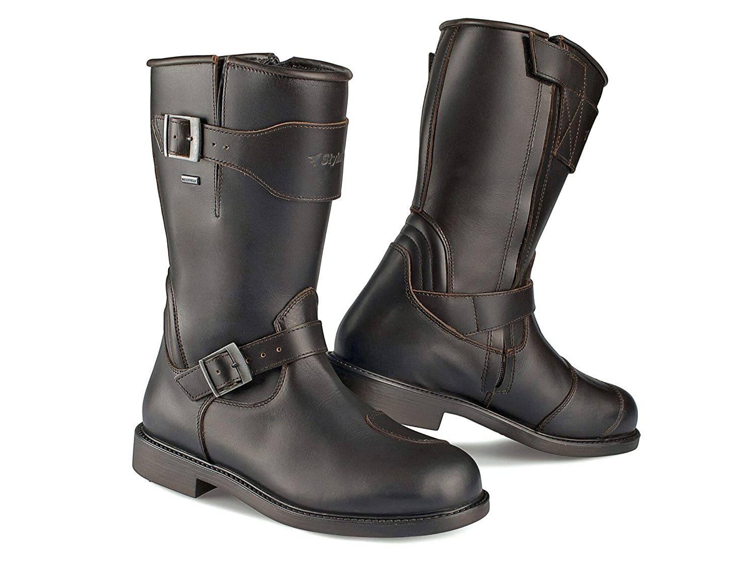 84522e2ae8 Amazon.com  Stylmartin Men s Legend Touring Boots Brown Size  US-9 ...