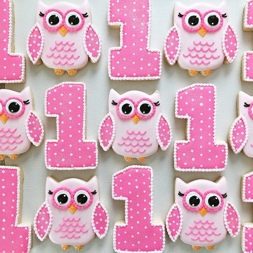 Woodland Cookie Cutters - 5 Piece Boxed Set - Cute Fox, Cute Owl, Deer/Fawn, Mushroom, Hedgehog - Ann Clark - US Tin Plated Steel by Ann Clark Cookie Cutters (Image #3)