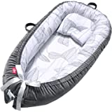 EIH Baby Nest,Baby Lounger Co-Sleeping Baby Bassinet for Bed Newborn Lounger 100% Soft Cotton Breathable and Portable…