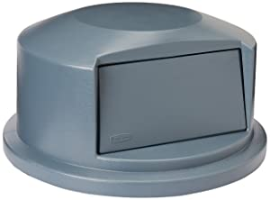 Rubbermaid Commercial Heavy-Duty BRUTE Dome Swing Top Door Lid for 44 Gallon Waste/Utility Containers, Plastic, Gray (FG264788GRAY)