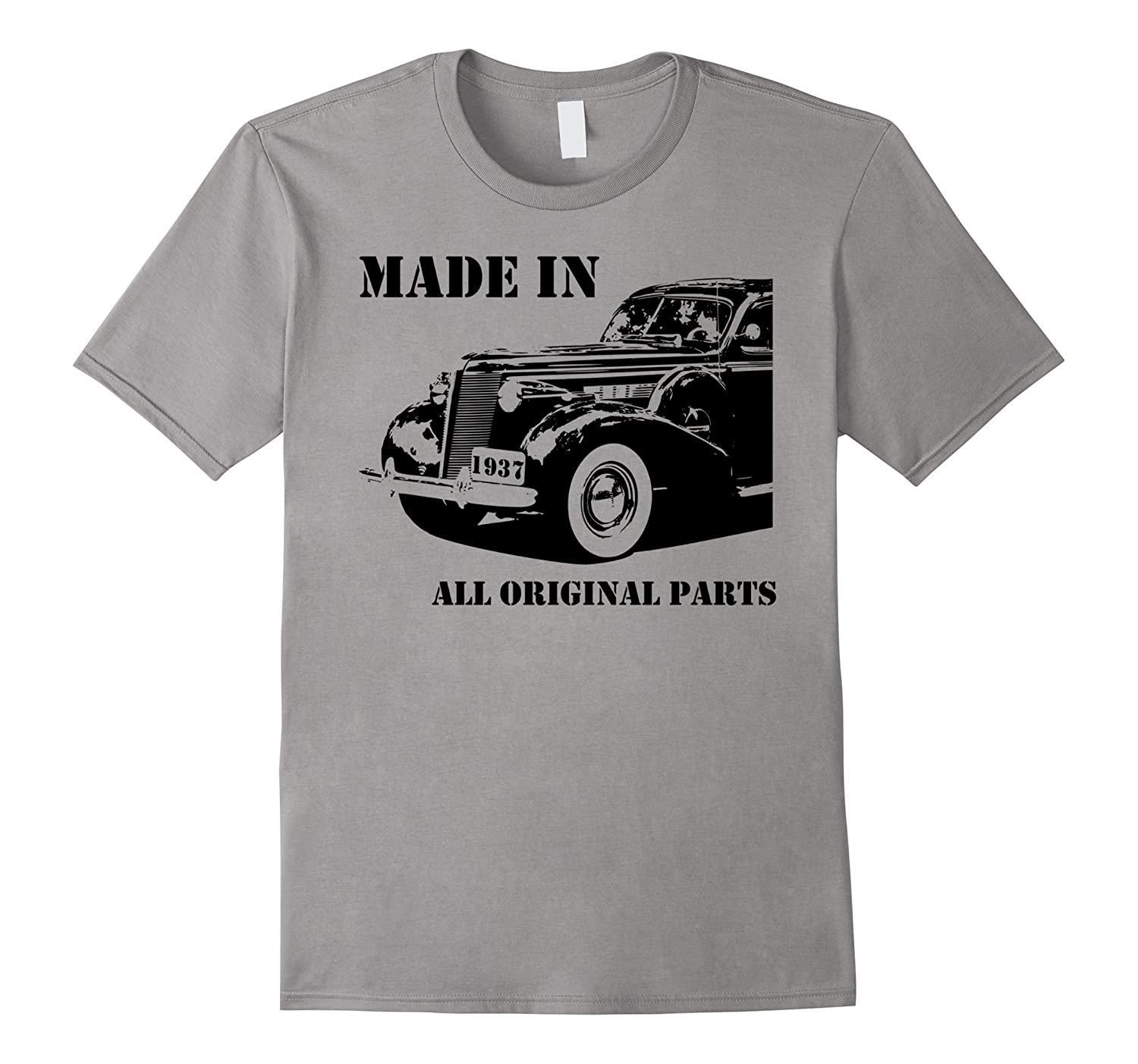 80th Birthday Vintage Car Made in 1937 Gift idea Man T shirt-PL