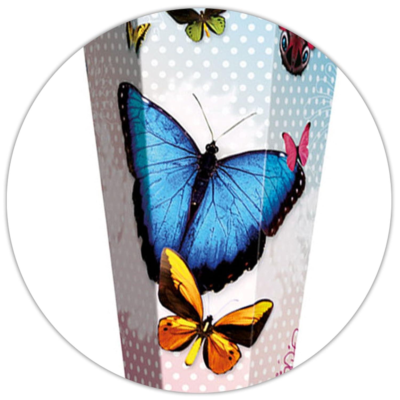 Unbekannt Unbekannt Unbekannt mit _ 3-D Effekt - Glitzer + Rüschenborte ! _ Schultüte -  Schmetterlinge & Punkte  - 70 cm - rund - incl. individueller _ großer Schleife - mit Namen - Fil.. a645a3
