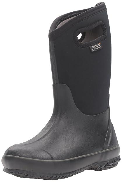 Bogs Classic High Waterproof Insulated Rubber Neoprene Rain Boot Snow, Black, 1 M US Little Kid