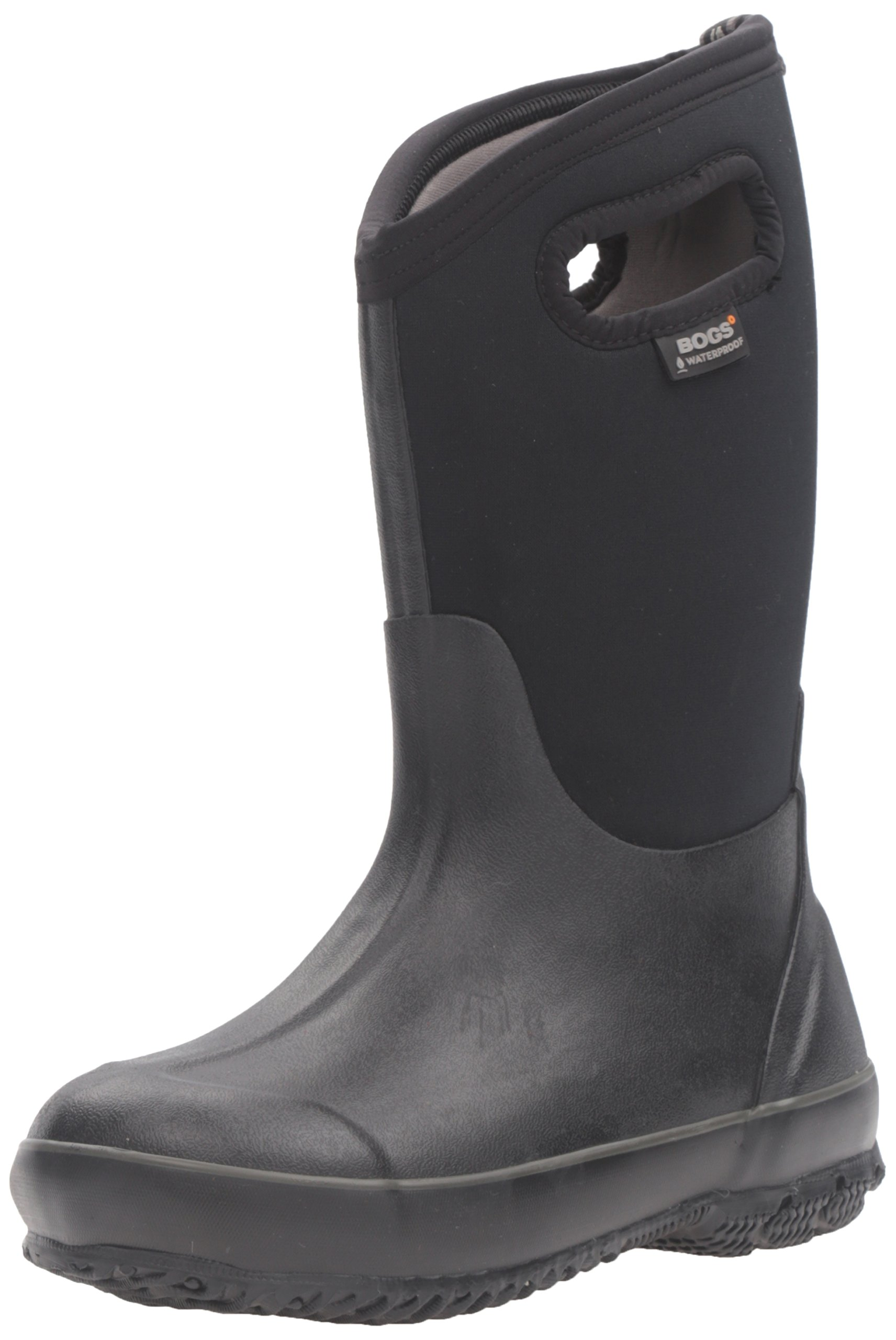 Bogs Classic High Waterproof Insulated Rubber Neoprene Rain Boot, All Black, 3 M US Little Kid