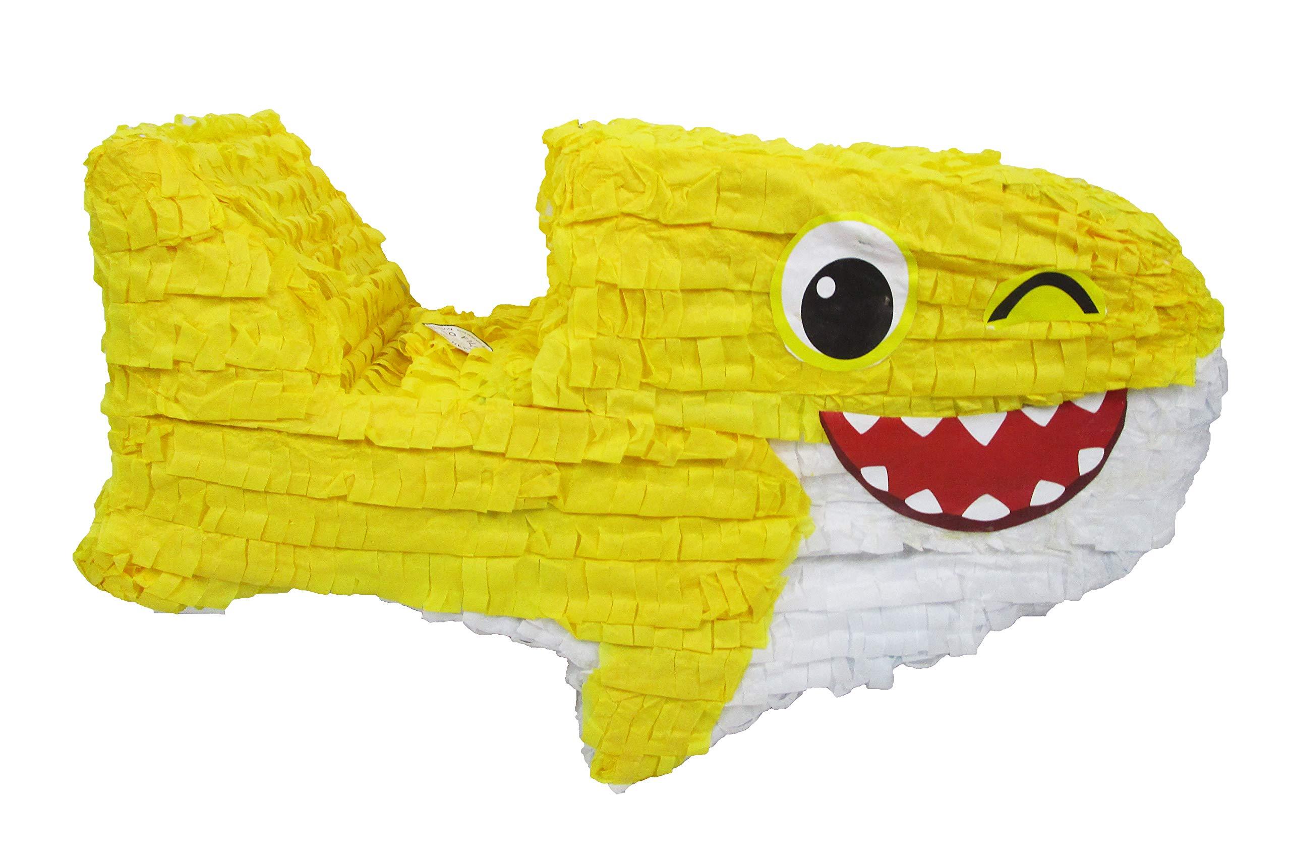 Baby Shark Pinata - Birthday Party Game and Handmade Decoration Centerpiece by Pinatas