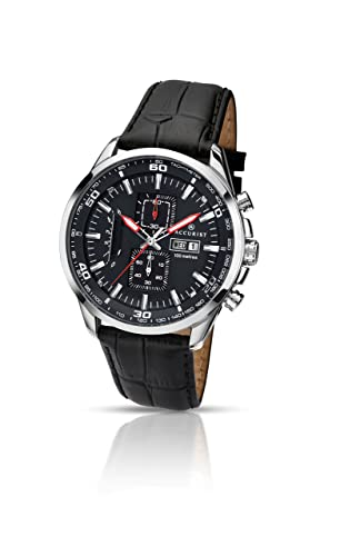 904737bf2 Accurist Men's Quartz Watch with Black Dial Chronograph Display and Black  Leather Strap 7004.01: Amazon.co.uk: Watches