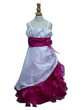 0ae018f083178 Robe Ceremonie Fille Modele Melissa Du 2 Ans Au 14 Ans Ecru Rose