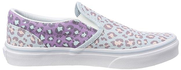 Vans Unisex-Kinder Classic Slip-on Sneaker, Mehrfarbig (2-Tone Leopard), 29 EU