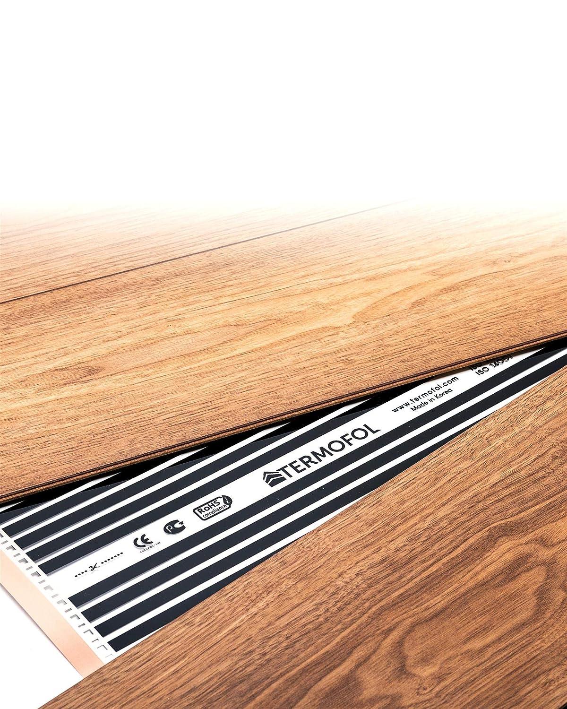 6m/² Underfloor Far Infrared Heating Film hot Panel foil mat Complete kit Laminate Tiles Wood Floor 220W//m/²