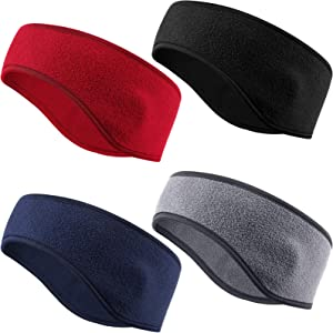 4 Pieces Kids Fleece Headband Winter Ear Warmer Ear Muff Headbands for Child Outside Sporting Running