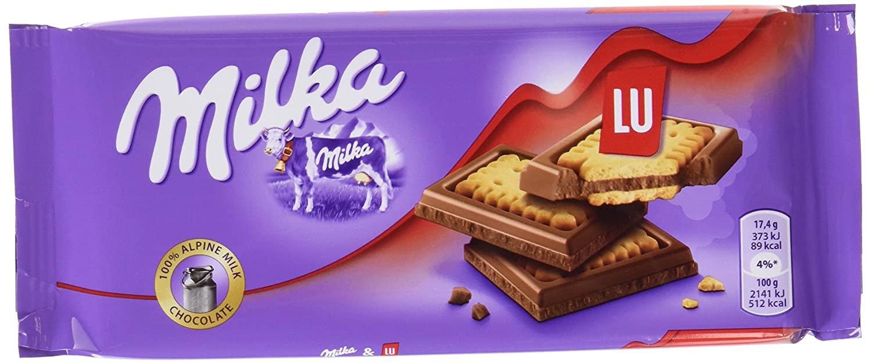 Milka Tableta de Chocolate con Galleta Lu - 87 g: Amazon.es: Amazon Pantry