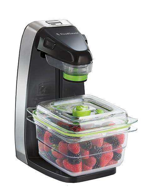Foodsaver Fresh Appliance Envasadora al vacío, 25 W, Acero Inoxidable, Negro
