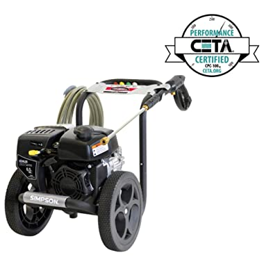 Simpson Cleaning MS60763S Megashot 3100 PSI Gas Pressure Washer, Black/Silver