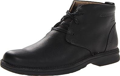 Clarks Mens Senner Ave BootBlack Tumbled Leather105MUS