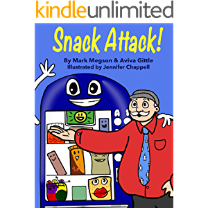 Snack Attack!: A story about loyalty and friendship with bright, funny pictures kids love. Each small chapter ends with…