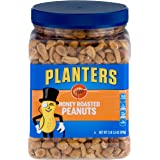 PLANTERS Honey Roasted Peanuts, 34.5 oz. Resealable Jars (Pack of 2) - Premium Quality Peanuts - Sweet and Salty Snack…