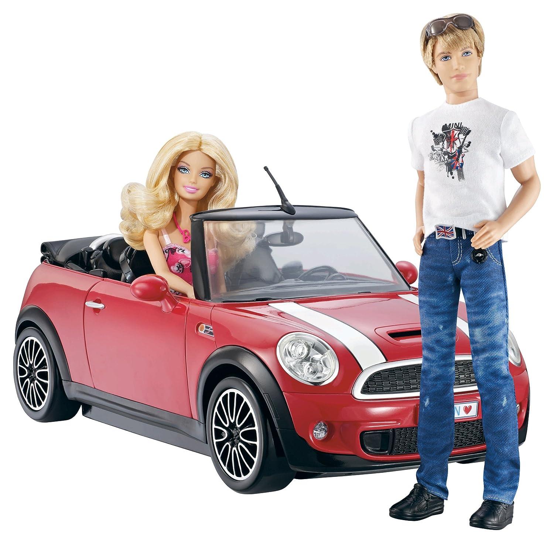mini cooper convertible pink. amazoncom barbie and ken my cool mini cooper convertible toys u0026 games pink