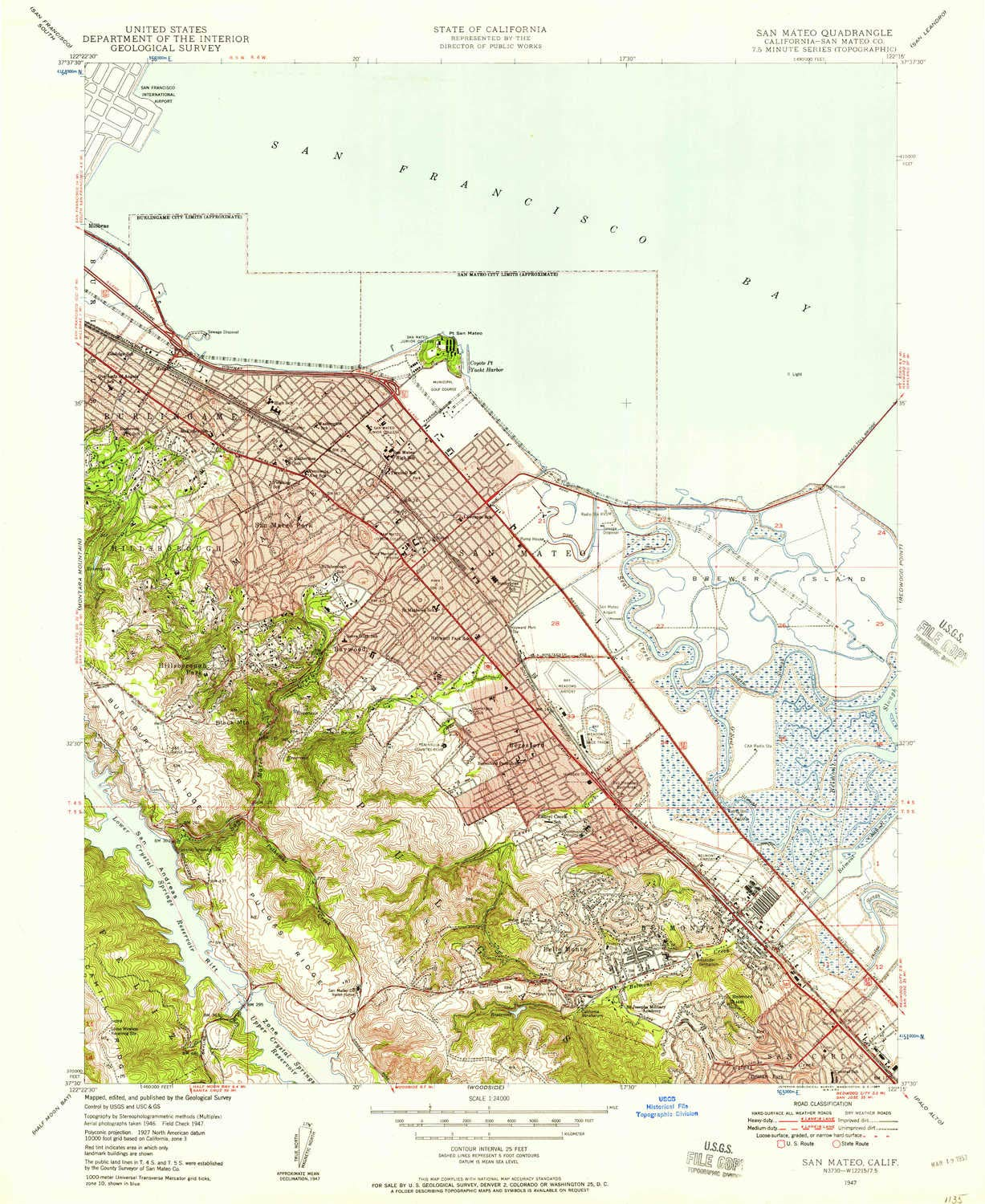 Amazon YellowMaps San Mateo CA topo map 1 Scale 7 5 X