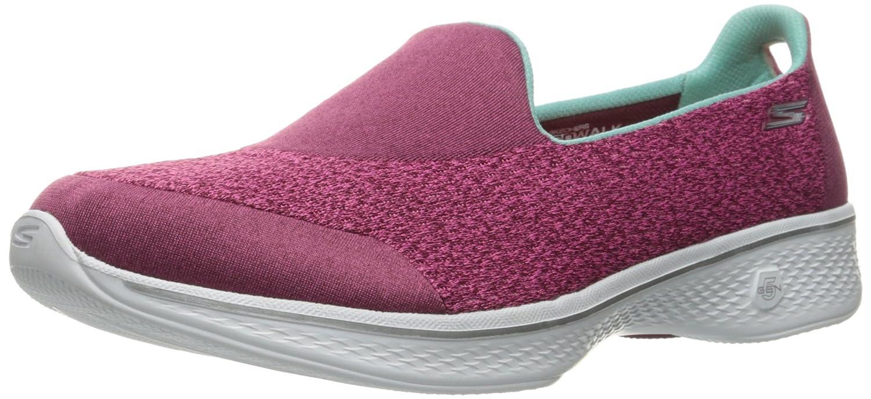 Pink Skechers Women's GO Walk 4 - Pursuit Slip-Ons