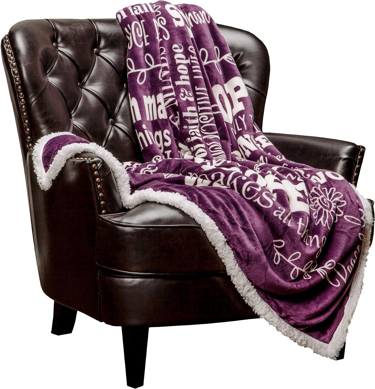 Hope and Faith Inspiration Throw Blanket