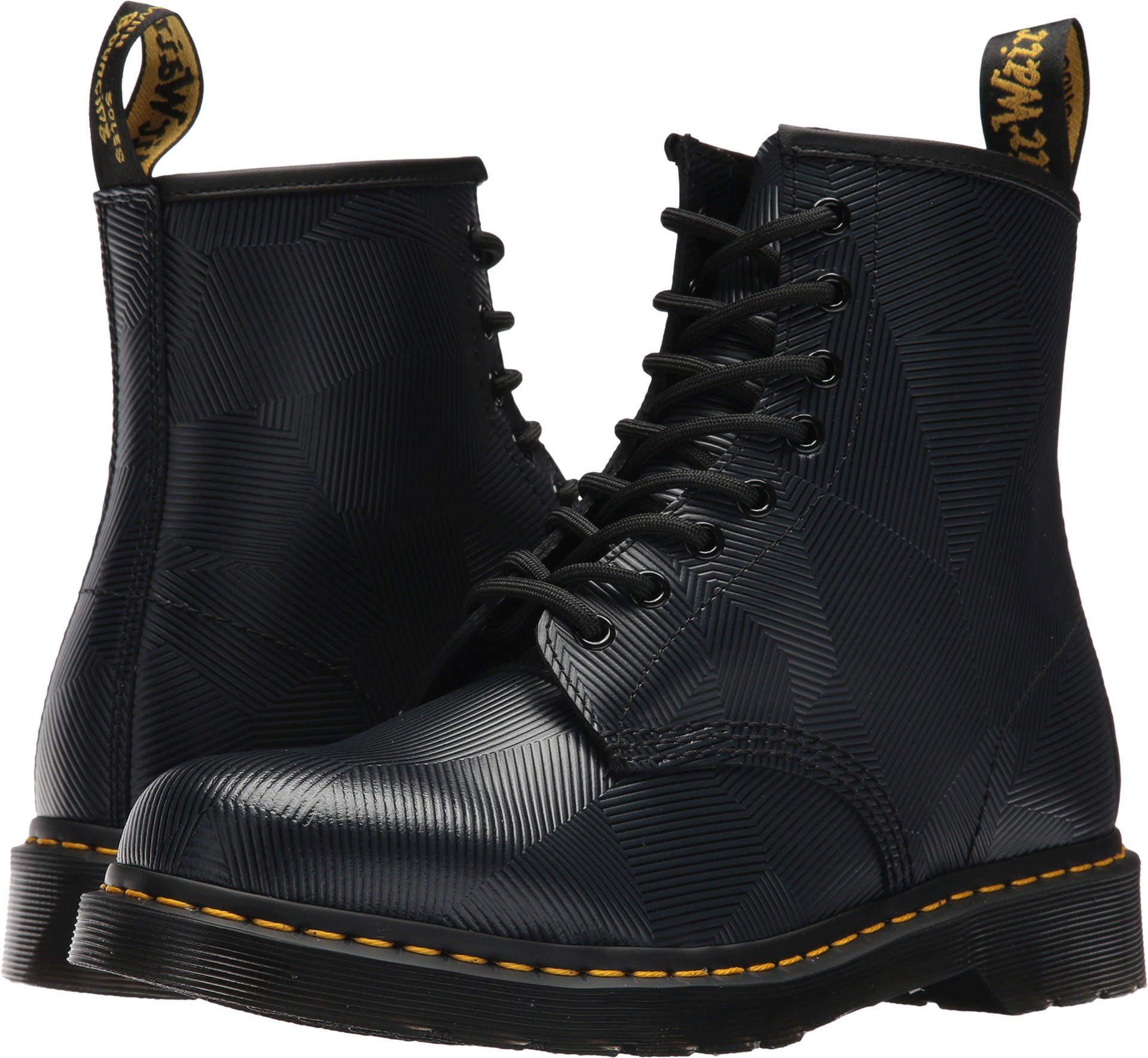 Dr. Martens 1460, Charcoal Geostripe, 9 M UK (Women's 11, Men's 10 US) by Dr. Martens