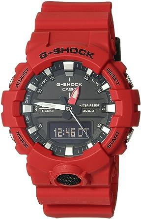 a63614cffbd4 Amazon.com  Casio G-Shock Men s GA-800 Red One Size  Watches
