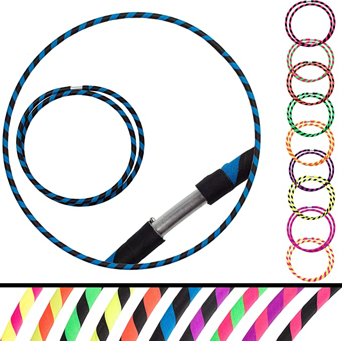 Silver Mermaid Holographic Taped Polypro or HDPE Hula Hoop  Dance Hoop  Collapsible for Travel  Performance  Push Button Connector