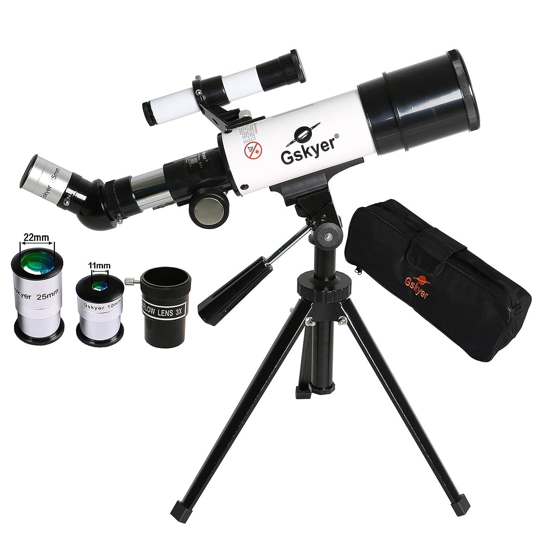 Gskyer Telescope, 60mm AZ Refractor Telescope, German Technology Travel Scope AZ60350