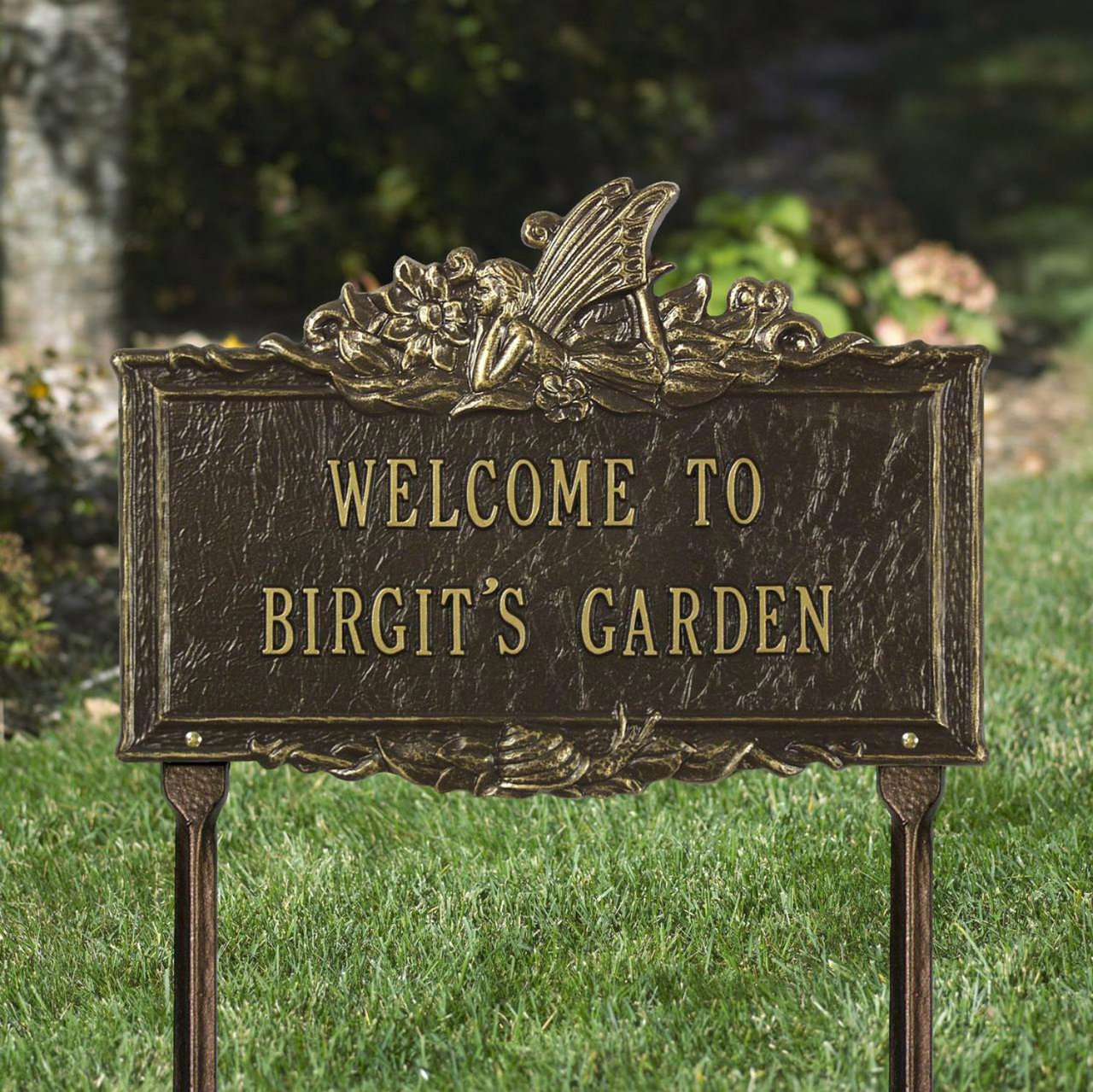 Amazon.com : 2 Line Personalized FAIRY Garden Plaque : Garden & Outdoor