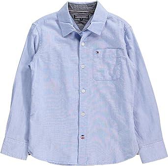 Tommy Hilfiger - Camisa - para niño 419 Hellblau 12 años ...