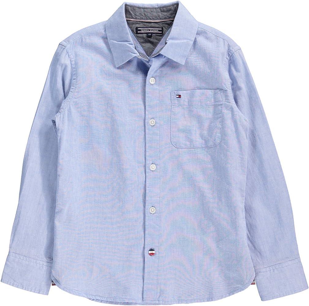 Tommy Hilfiger - Camisa - para niño 419 Hellblau 12 años: Amazon.es: Ropa y accesorios