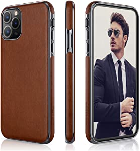 "LOHASIC for iPhone 11 Pro Case, Slim Business PU Leather Elegant Hybrid Bumper Soft Anti-Slip Anti-Scratch Protective Phone Cover Cases Compatible with iPhone 11 Pro(2019) 5.8""- Brown"