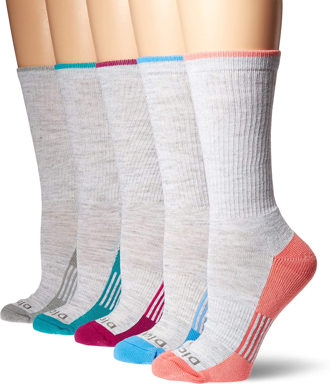 Dickies Womens Dritech Advanced Moisture Wicking Crew Sock 6//12 Packs